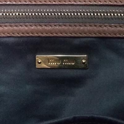 buckled tote bag brown